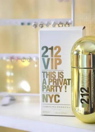 Carolina Herrera 212 Vip women_Original parfum 5 мл_затест