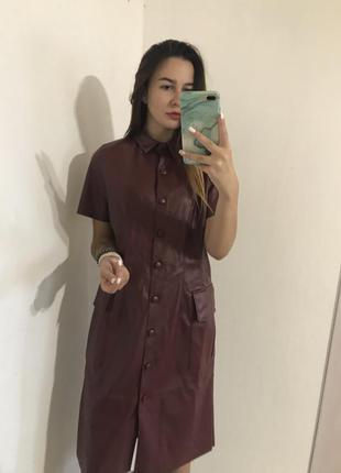 Платье рубашка под кожу