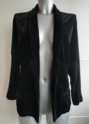 Нарядный пиджак из бархата sperkle&fade  черного цвета