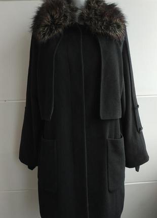 Стильное пальто asos черного цвета оригинального кроя