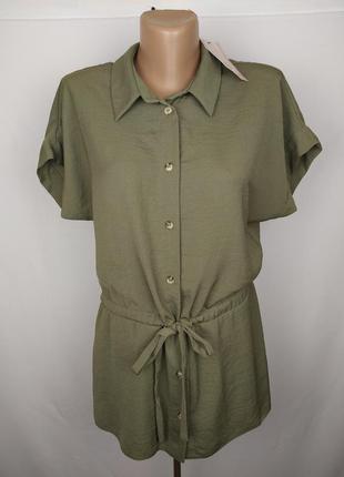 Новая модная блуза цвета хаки tu uk 12/40/m