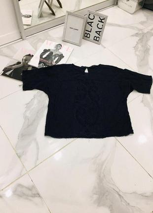 Zara basic красивая базовая блуза с узором кроя оверсайз