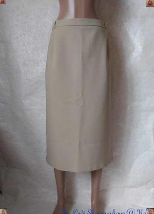 Новая базовая юбка миди карандаш большого размера в цвете беж,...