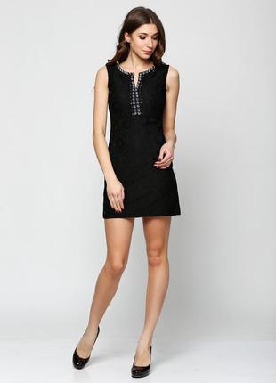 Черное коктейльное платье короткое love republic
