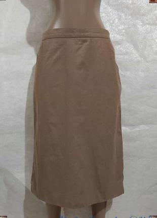 Новая базовая юбка миди карандаш со 100 % шерсти в цвете беж,р...