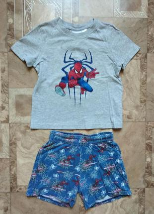 Футболка и шорты человек паук (marvel) на мальчика