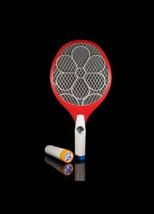 Электро мухобойка с двумя фонарями