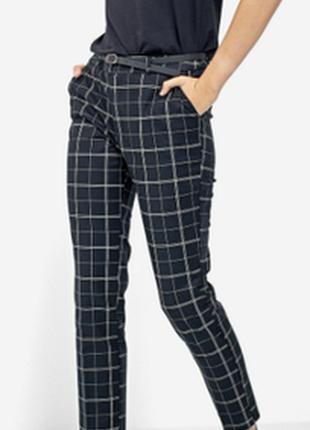 Шикарные стильные модные брюки в крупную клетку шотландка h&m