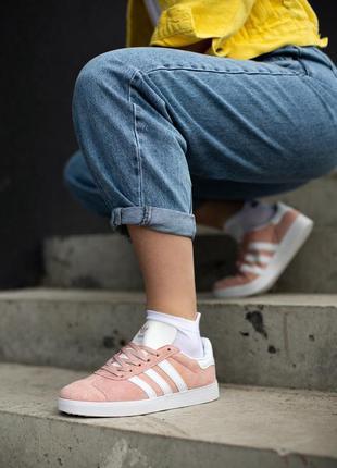 Adidas gazelle pink розовые ♦ женские кроссовки ♦ весна лето о...