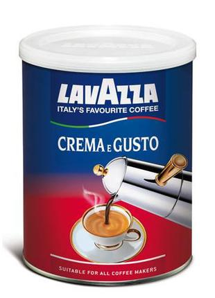Молотый кофе Lavazza Crema e Gusto Ж/Б 250 гр заварной кофе Ж/Б