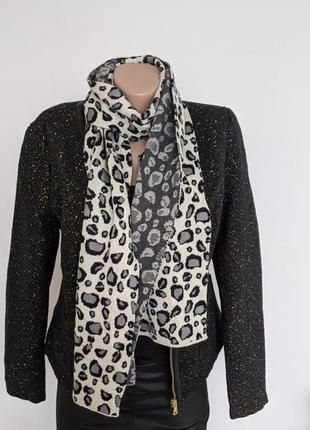 🔥🔥🔥 двухсторонний шарф с серым леопардовым принтом от  gucci