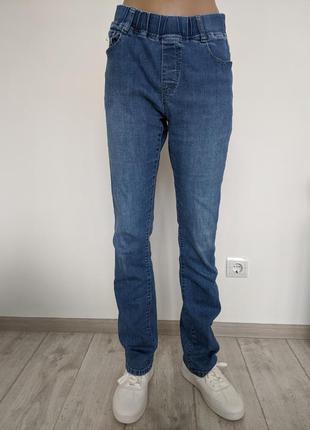 🔥🔥🔥 джинсы с поясом на резинке женские размер 30