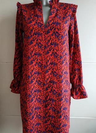 Оригинальное платье h&m с принтом красивых цветов