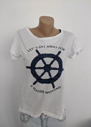 🔥🔥🔥 футболка хлопковая пляжная морячка на море ostin studio
