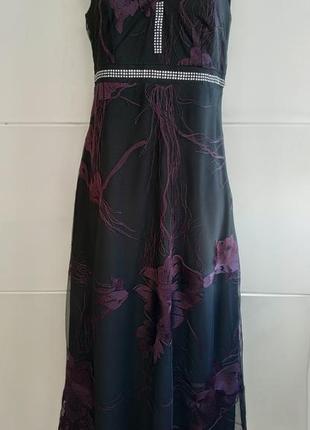 Нарядное платье marks & spencer с принтом красивых цветов