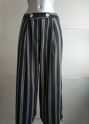 Стильные брюки-кюлоты tooshop с карманами и пуговицами