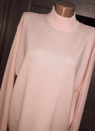 Лонгслив, пуловер, джемпер италия 50% мериносовая шерсть