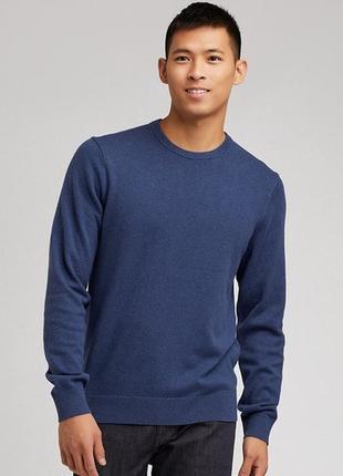 Базовый шерстяной мужской свитер uniqlo.