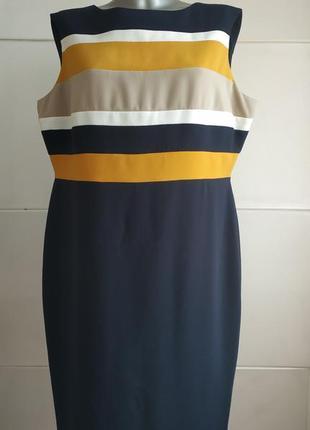 Стильное платье-футляр на подкладке marks&spencer с яркими пол...