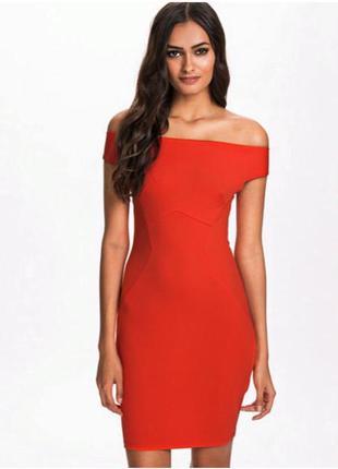 Новое с биркой оранжевое платье по фигуре new look