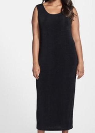 Новое с биркой чёрное платье-майка длинное atmosphere размер 54