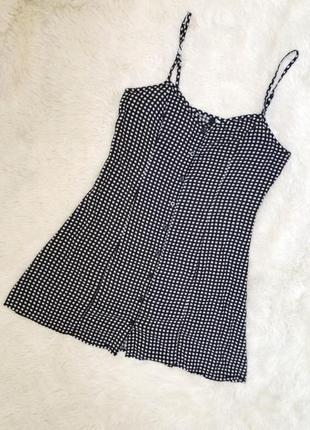 Трендовое платье сарафан в клетку с пуговицами h&m размер 50