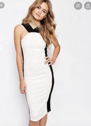 Новое с биркой белое платье миди по фигуре select