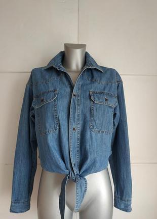 Джинсовая куртка-рубашка asos