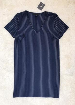 Новое с биркой темно синее платье в полоску atmosphere размер 46