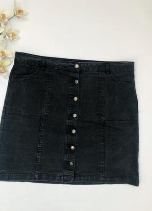 Чёрная джинсовая юбка george большой размер 58
