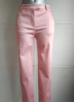 Стильные укороченные брюки marks& spencer розового цвета