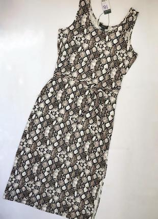 Новое с биркой длинное платье макси змеиный принт primark боль...