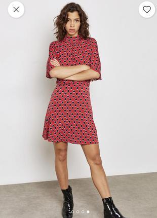 Стильное красное платье mango basics