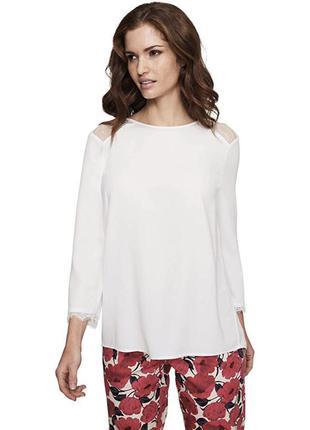 Новая с биркой белая блуза с кружевом батал большой размер 20, 58