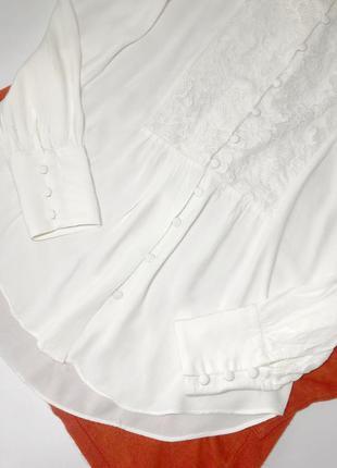 Белая блуза с кружевом next размер 14, 52