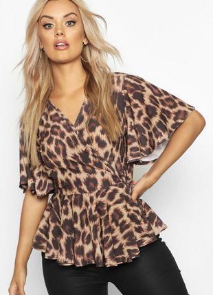 Новая с биркой блуза в леопардовый принт на запах boohoo plus ...