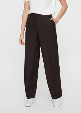 Новые с биркой коричневые свободные брюки vero moda