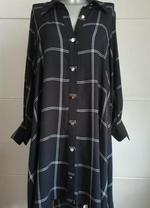 Стильное платье zara оригинальнального рубашечного кроя