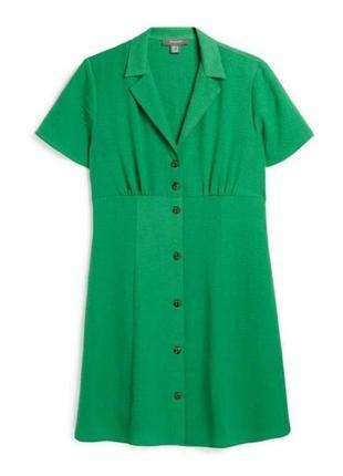 Зелёное платье- рубашка на пуговицах primark большой размер ба...