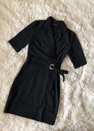 Чёрное платье-пиджак, платье-блейзер миди miss selfridge