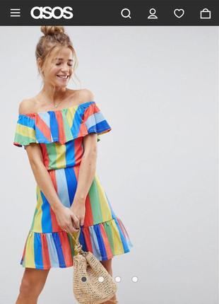 Новое с биркой платье в принт радуга 🌈 asos новая коллекция хл...