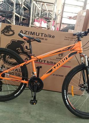 Спортивный велосипед 26 дюйма Azimut Extreme рама 14 оранжевый