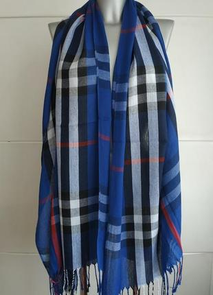 Красивый шарф pashmina в клетку