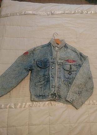 Винтаж! ретро! куртка джинсовая