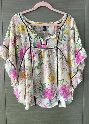 H&m свободная блуза в стиле бохо, р.32, идет на xs-s