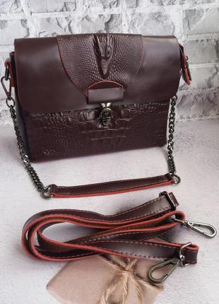 Кожаная сумка женская жіноча шкіряна сумочка
