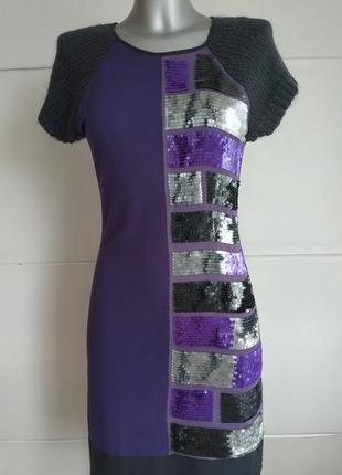 Изумительное платье marks&spencer italy из комбинированной тка...