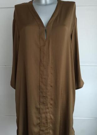Стильное платье h&m оригинального рубашечного кроя с карманами