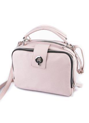 Розовая маленькая сумка через плечо кросс-боди из натуральной ...