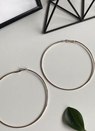 💕акція 1+1=3  золотисті сережки кільця 🌿з сайту asos